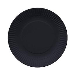 Plato Redondo Carton Negro 18Cm 10 Uni