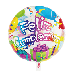 "Globo Transparente 18"" Feliz Cumpleaños Balloons 1 Uni"