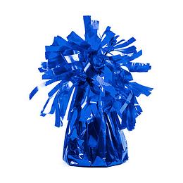Peso Para Globo Chico Metalizado Flecos Azul 1 Uni