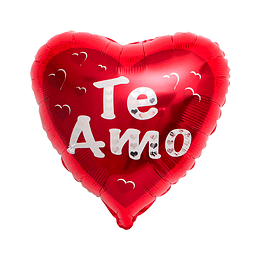 """Globo Foil Corazon 18"""" Te Amo 1 Uni"""