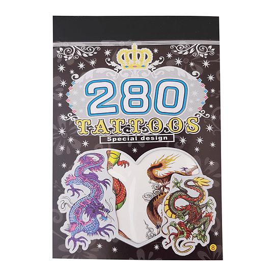 Set 280 Tatuajes Diseño Niños 1 Uni