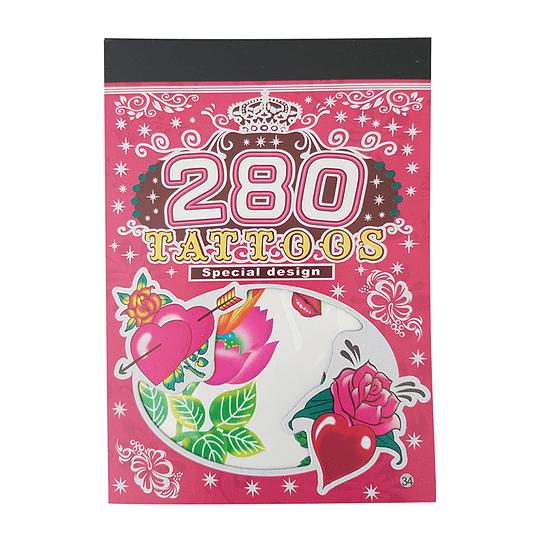 Set 280 Tatuajes Diseño Niñas 1 Uni