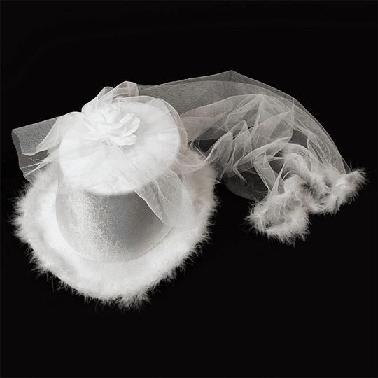 Sombrero Tongo Blanco C/Velo 1 Uni