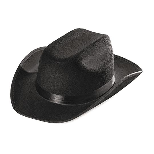 Sombrero Sheriff Negro 1 Uni