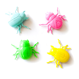 Escarabajo Color Pastel Fricción 12 Uni