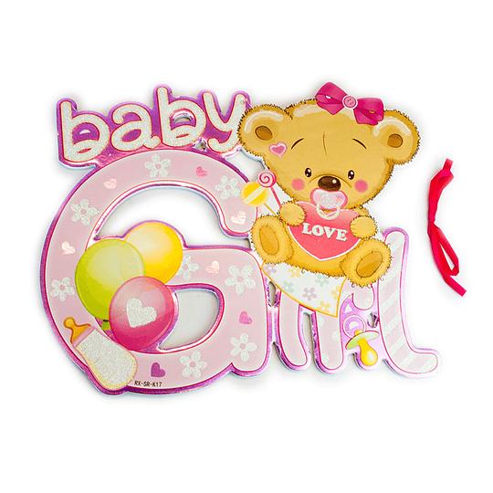 Deco Osito Baby Girl 1 Uni