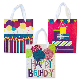 Bolsa De Regalo Iconos Happy Birthday Mediana 1 Uni