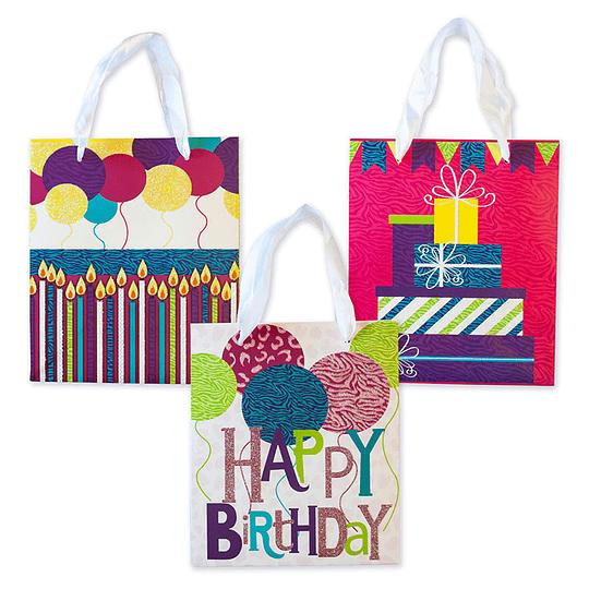Bolsa De Regalo Iconos Happy Birthday Grande 1 Uni