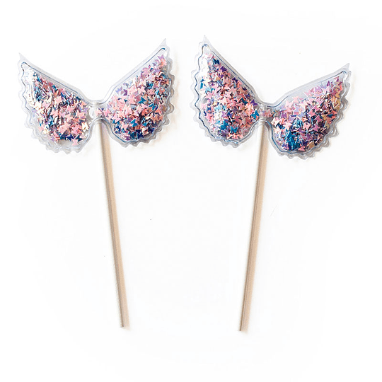 Set Picks Plastic Butterflies 1 Uni