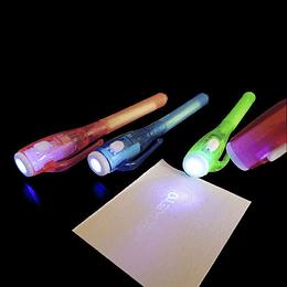 Boligrafos UV Con Linterna 8 Uni