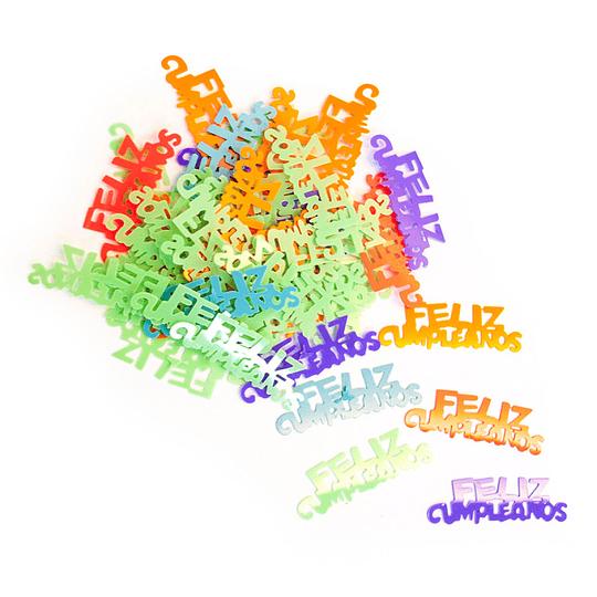 Confetti 15 gr. Feliz Cumpleaños Neón 1 Uni