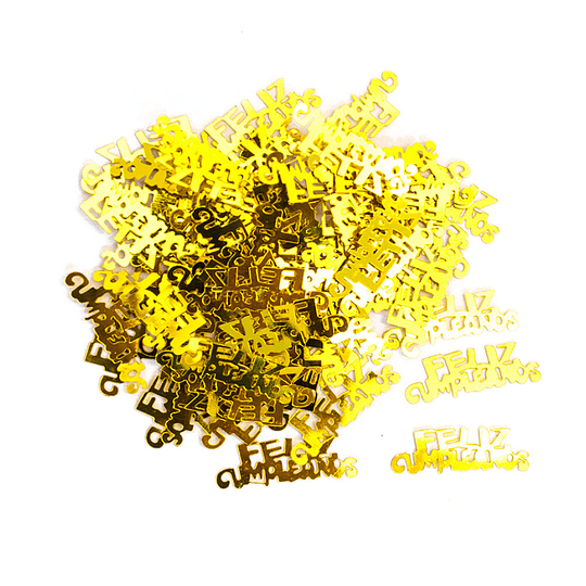 Confetti 15 gr. Feliz Cumpleaños Dorado 1 Uni