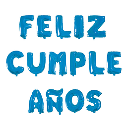 """Globo Letras Azules """"Feliz Cumpleaños"""" 1 Uni"""