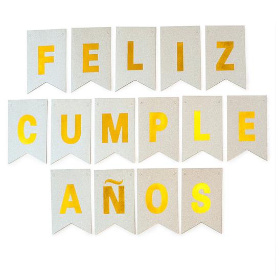 Guirnalda Banderin Feliz Cumpleaños Plateada 3M 1 Uni