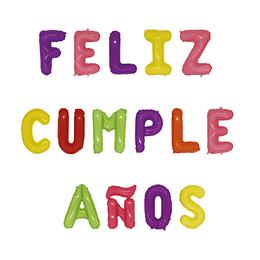 """Globo Letras Pastel """"Feliz Cumpleaños"""" 1 Uni"""