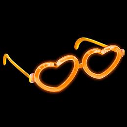 Luminoso Anteojos Corazón Foil Bag 1 Uni