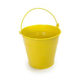 Balde Metálico Mediano Amarillo 1 Uni