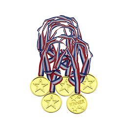 Medallas Winner Chica 6 Uni - 3,5 cm.