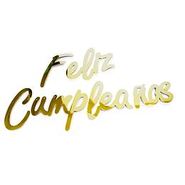 Guirnalda Feliz Cumpleaños Cursiva Dorada 1 Uni