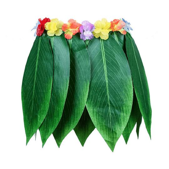 Falda Hawaiana Hojas Verdes 1 Uni