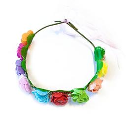 Cintillo Flores Grandes Colores Con Luz 1 Uni