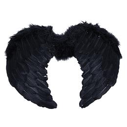 Alas Angel Negras Con Plumas 1 Uni