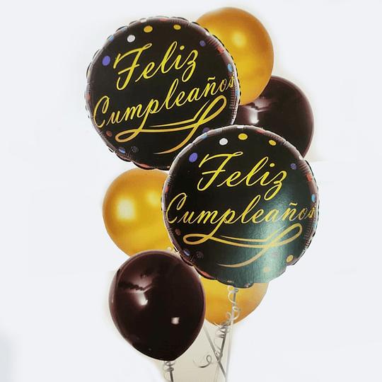 7 Globos Feliz Cumpleaños