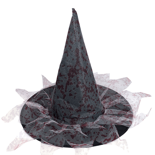 Sombrero Bruja Tela Ensangrentada 1 Uni