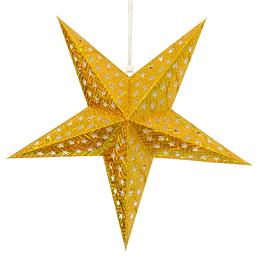 Deco Estrella 3D 28Cm Dorado 1 Uni