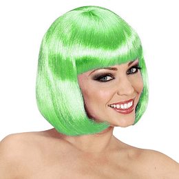 Peluca Melena Verde Con Chasquilla 1 Uni
