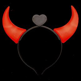 Cintillo Led Cachos Diablo Rojo 1 Uni