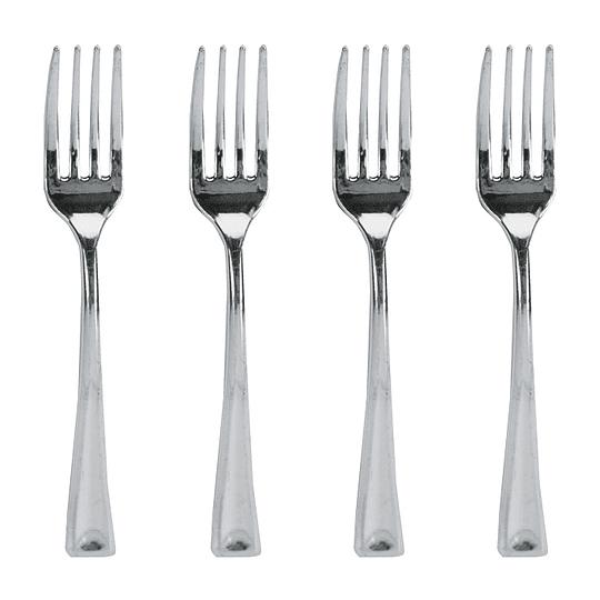 Mini Tenedores Metalizados 24 Uni