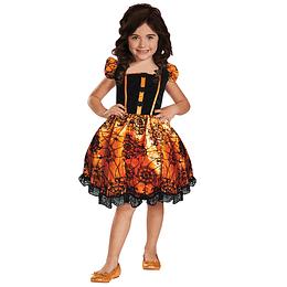 Disfraz Bruja Pumpkin Halloween Niña Talla 7-9 1 Uni