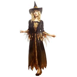 Disfraz Mujer Bruja Largo Unica Talla 1 Uni