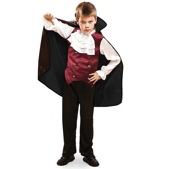 Disfraz Luxury Vampiro Niño Talla 4-6 1 Uni
