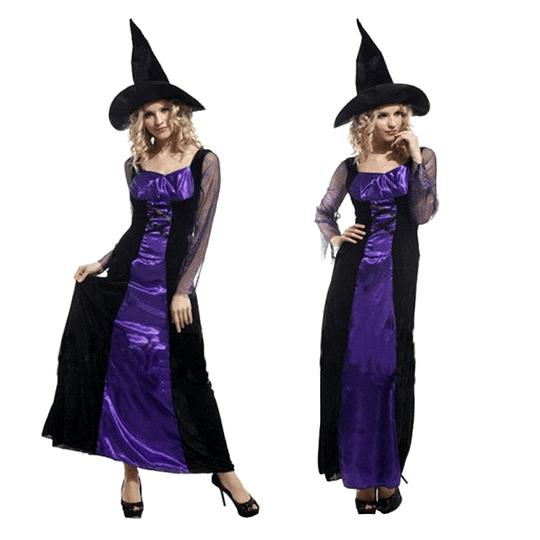 Disfraz Mujer Bruja Az/Ng Unica Talla 1 Uni