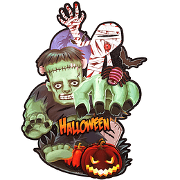 Decoración Monstruos Glitter Halloween 1 Uni