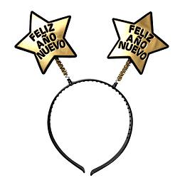 Cintillo Dorado Año Nuevo 4 Uni