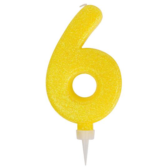 Vela Gigante Glitter Col Surt #6 1 Uni