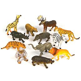 Animales Selva Pequeños 12 Uni