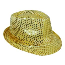 Sombrero Michael Con Luz Lentejuelas Dorado 1 Uni