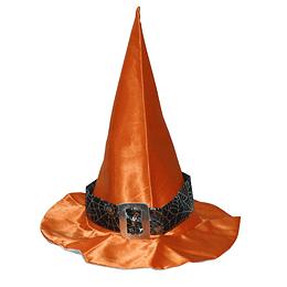 Sombrero Bruja Color Con Cinta Y Hebilla 1 Uni