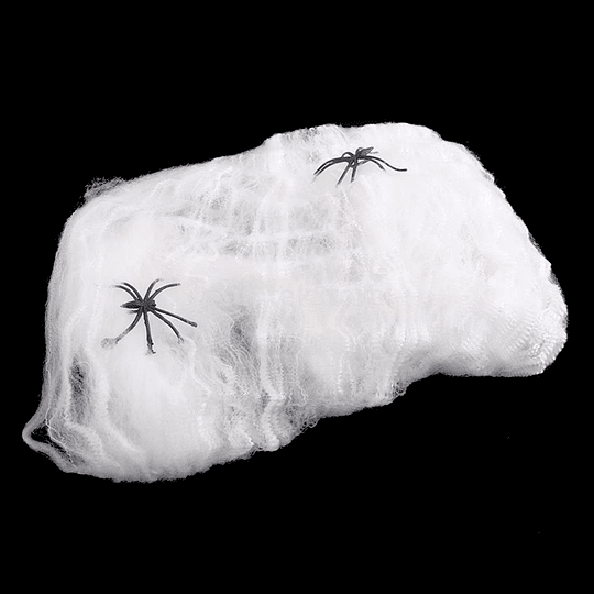 Telaraña Blanca 40Gr Con 4 Arañas 1 Uni