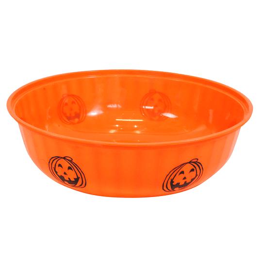 Bowl Plastico Naranjo Halloween 1 Uni