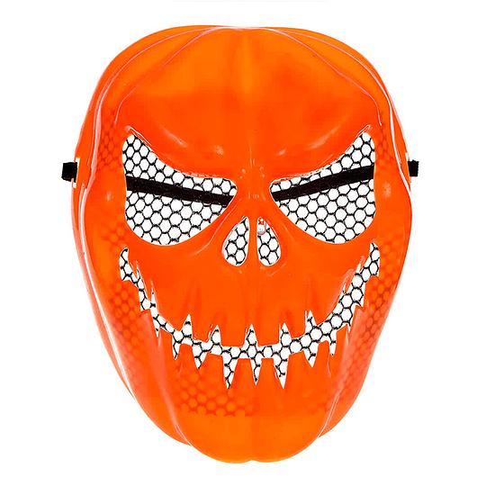 Mascara Calabaza Diabolica Naranja 1 Uni