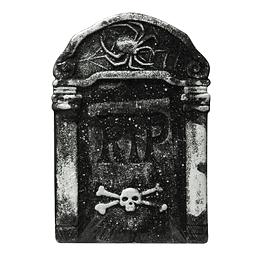 Lapida Craneo Y Huesos Rip 38Cm 1 Uni