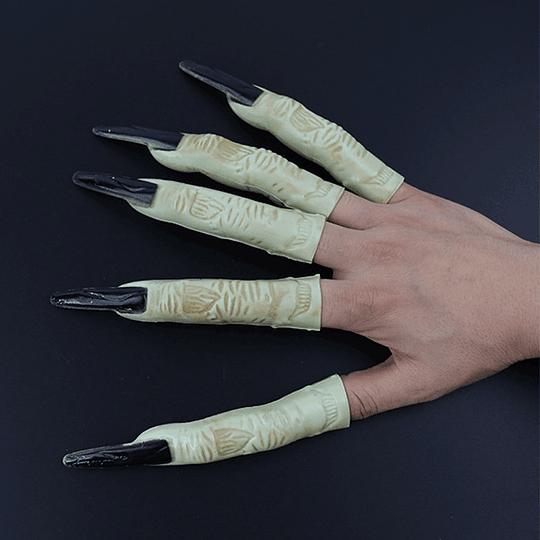 Dedos Bruja Uñas Negras 5 Uni
