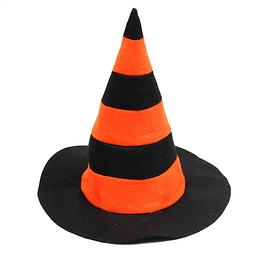 Sombrero Bruja Negro Franjas Colores 1 Uni