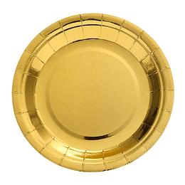 Plato 23Cm Metal Effect Dorado 6 Uni