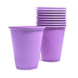 Vaso Plastico 230Cc Lila 10 Uni